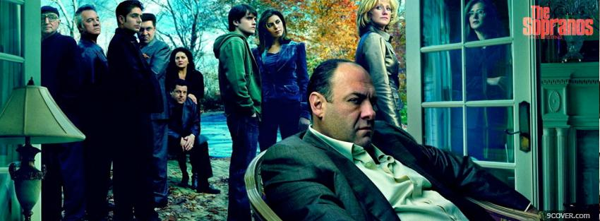 Photo the sopranos the whole cast Facebook Cover for Free