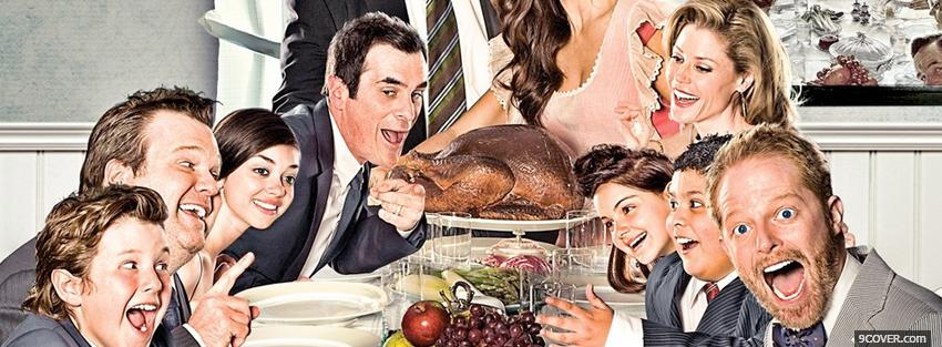 Photo tv shows modern family tv Facebook Cover for Free