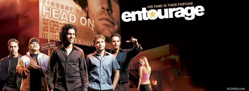 Photo tv shows entourage Facebook Cover for Free