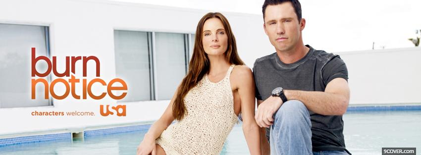 Photo tv shows burn notice actors sitting Facebook Cover for Free