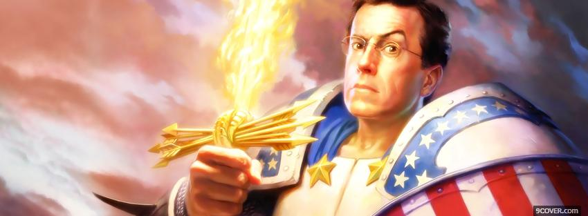 Photo tv shows stephen colbert Facebook Cover for Free