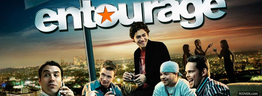 Tv Shows Entourage The Cast Photo Facebook Cover