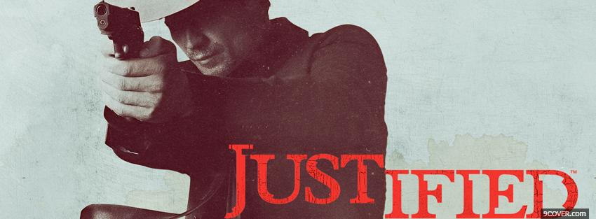 Photo tv shows man shooting in justified Facebook Cover for Free