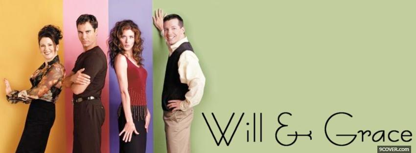 Photo tv shows will and grace Facebook Cover for Free
