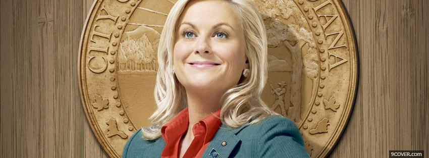 Photo amy poehler in parks and recreation Facebook Cover for Free