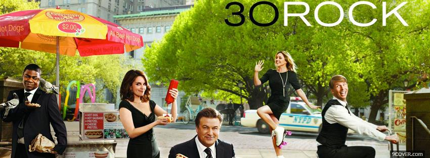 Photo tv shows happy cast of 30 rock Facebook Cover for Free