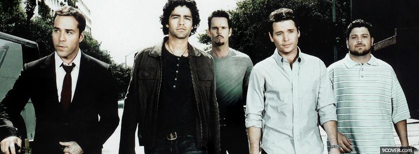 Photo tv series entourage men walking Facebook Cover for Free