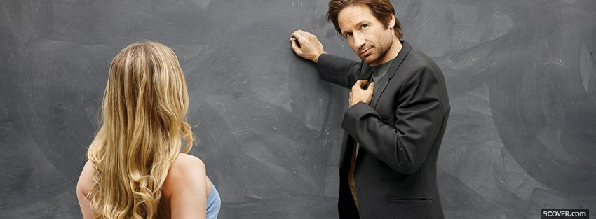 Photo hank moody with drawing board Facebook Cover for Free