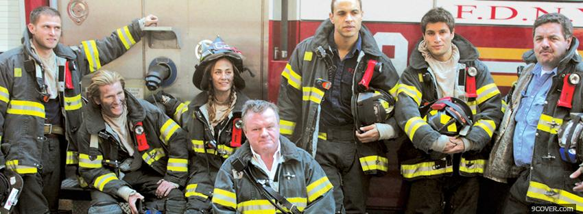 Photo tv shows rescue me fire fighters Facebook Cover for Free
