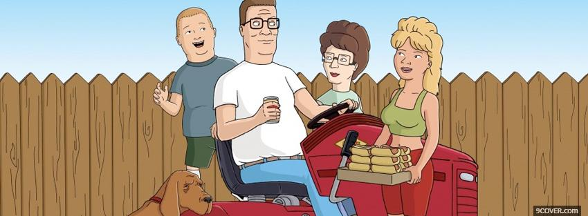 Photo tv shows king of the hill on tractor Facebook Cover for Free