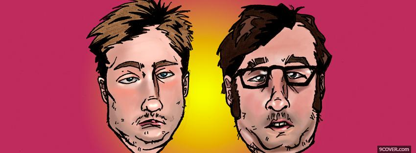Photo tim and eric faces tv series Facebook Cover for Free