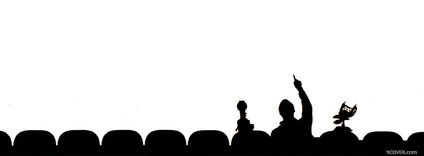 Photo black and white mystery science theater 3000 Facebook Cover for Free