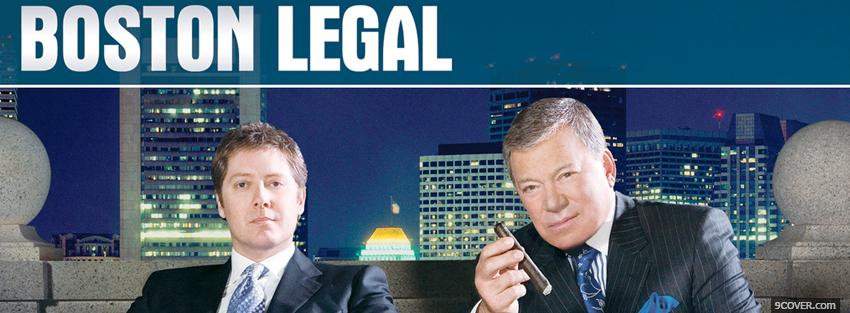 Photo boston legal men sitting Facebook Cover for Free