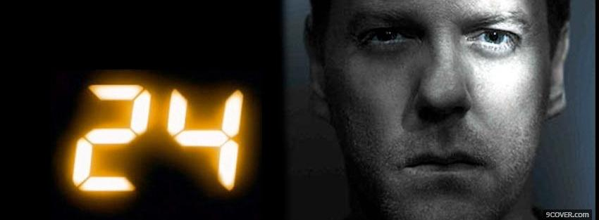 Photo kiefer sutherland as jack bauer Facebook Cover for Free