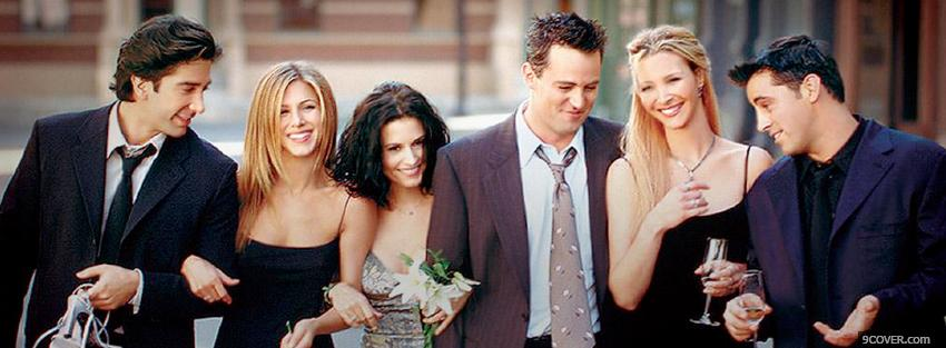 Photo tv shows cast of friends Facebook Cover for Free