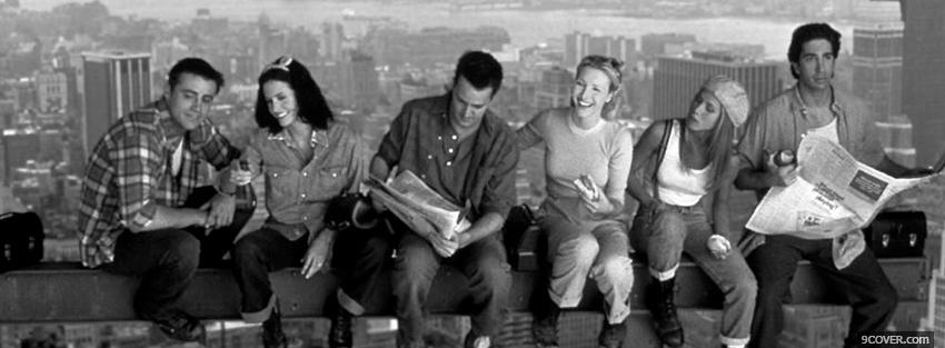 black and white friends Photo Facebook Cover