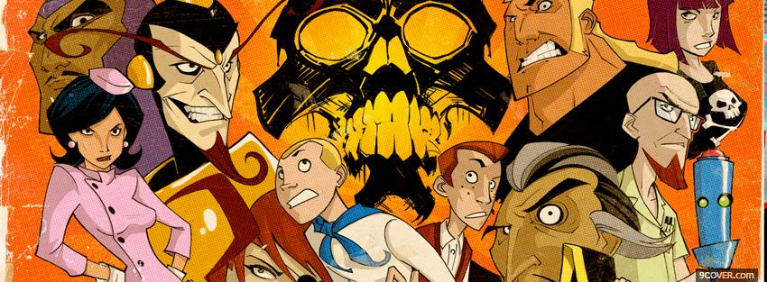 Photo the venture bros and skull Facebook Cover for Free