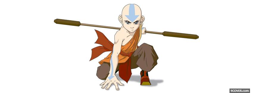Photo tv shows anime avatar aang Facebook Cover for Free