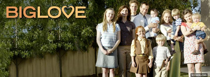 Photo tv shows everyone in big love Facebook Cover for Free