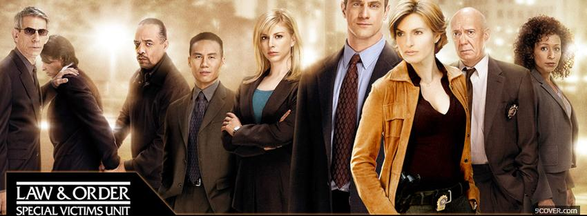 Photo tv shows law and order Facebook Cover for Free