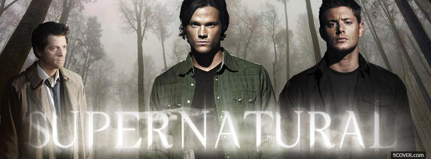 Photo tv shows supernatural in the woods Facebook Cover for Free