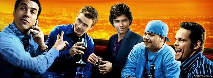Photo entourage men drinking Facebook Cover for Free