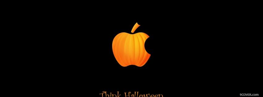 Photo halloween apple pumpkin Facebook Cover for Free
