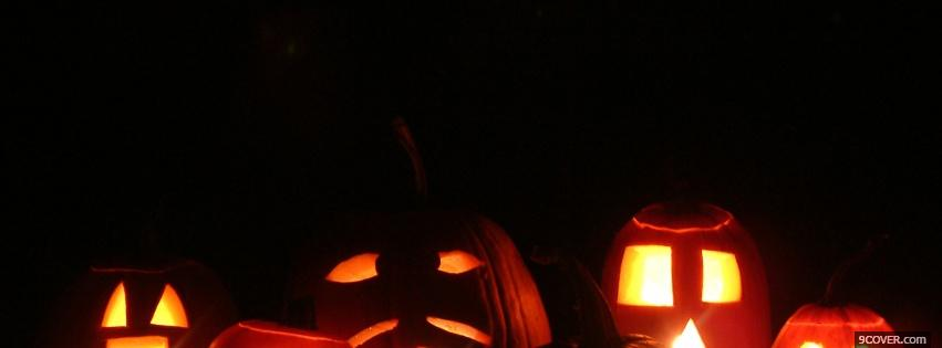 Photo various fun pumpkins Facebook Cover for Free