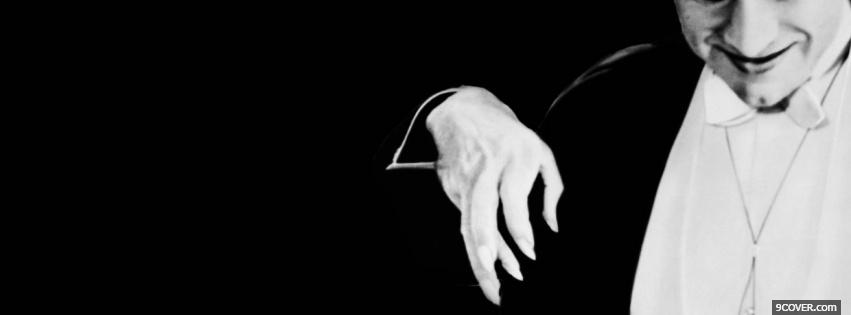 Photo black and white dracula Facebook Cover for Free