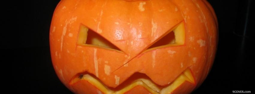 Photo carved pumpkin Facebook Cover for Free