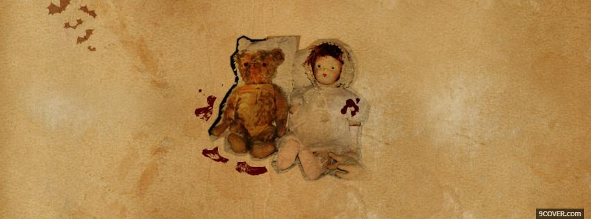 Photo halloween little dolls Facebook Cover for Free