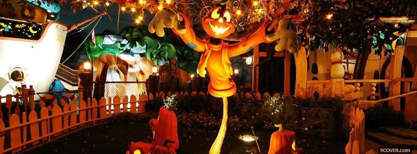 Photo nice halloween decorations Facebook Cover for Free