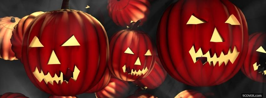 Photo plenty horrifying pumpkins Facebook Cover for Free