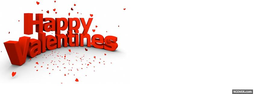 Photo big happy valentines day sign Facebook Cover for Free