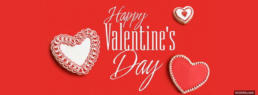 Photo red white hearts valentines day Facebook Cover for Free
