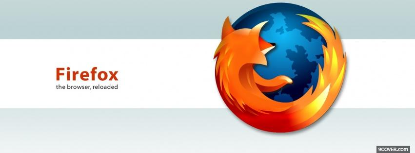 Photo firefox browser white computers Facebook Cover for Free