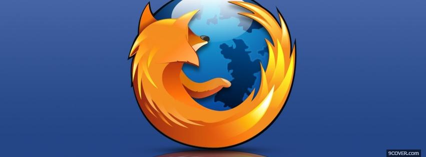 Photo label of mozilla firefox Facebook Cover for Free