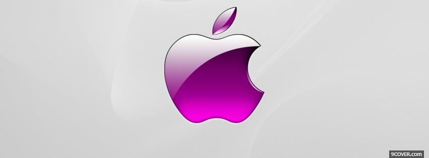 Photo purple apple computers Facebook Cover for Free