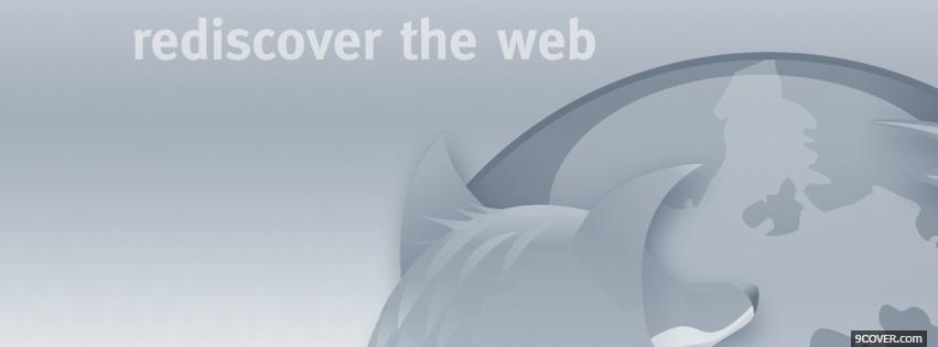 Photo rediscover the web computers Facebook Cover for Free