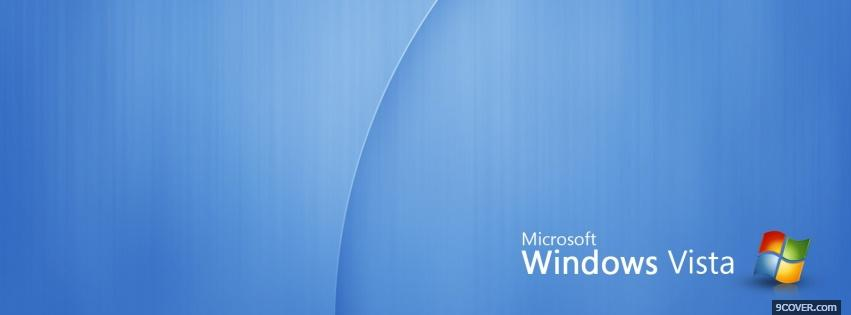 Photo blue gradient windows vista Facebook Cover for Free