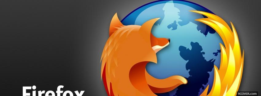 Photo grey black firefox Facebook Cover for Free