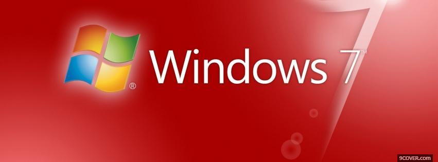 Photo red windows 7 computers Facebook Cover for Free