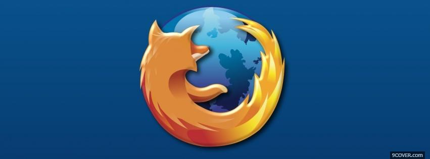 Photo firefox and blue world Facebook Cover for Free