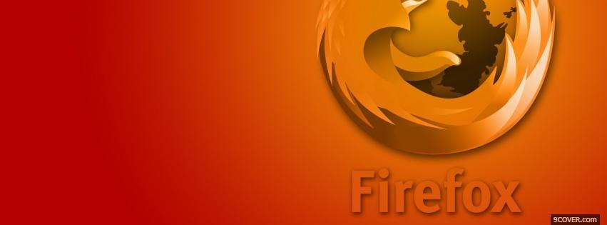 Photo red orange firefox Facebook Cover for Free