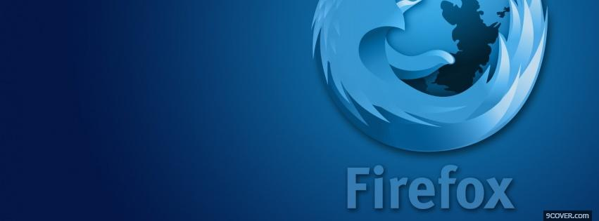 Photo blue firefox computers Facebook Cover for Free