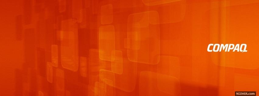 Photo compaq orange computers Facebook Cover for Free