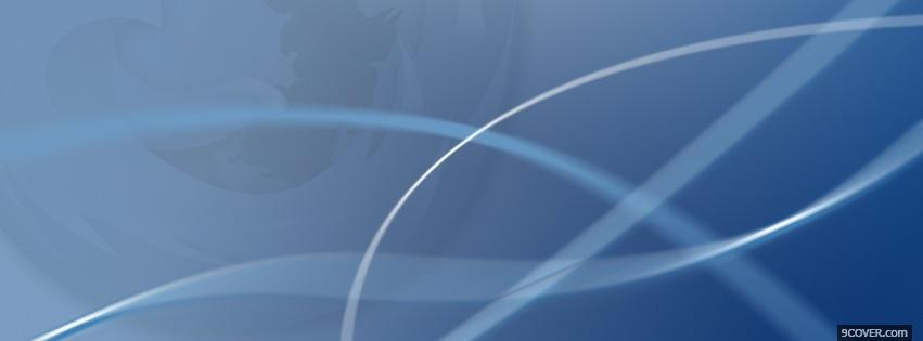 Photo firefox abstract blue Facebook Cover for Free
