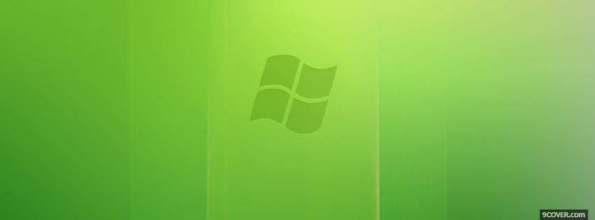 Photo lime green windows vista Facebook Cover for Free