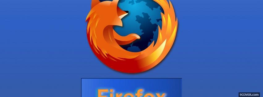 Photo logo of firefox Facebook Cover for Free
