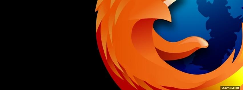 Photo black firefox computers Facebook Cover for Free